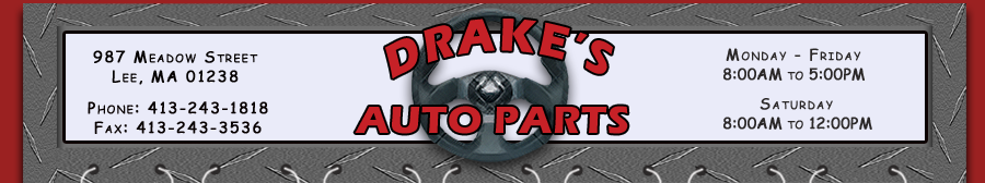 Drake's Auto Parts Lee, MA, Used Auto Parts In The Berkshires, Pre-Owned Cars And Trucks In The Berkshires, Auto Parts In The Berkshires